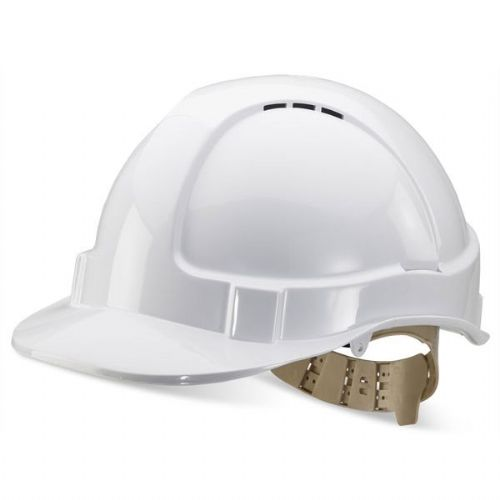 Click B-Brand Vented White Safety Helmet
